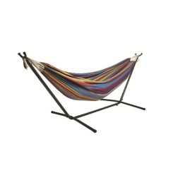 Rainbow Double Hammock with Stand and Carry Bag