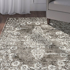 Tan Victorian Impressions Infinity Area Rug 5x7