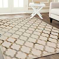 Delightful Lattice Tranquility Accent Rug