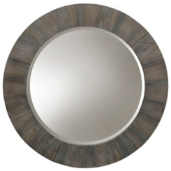 Weathered Gray Beveled Wall Mirror