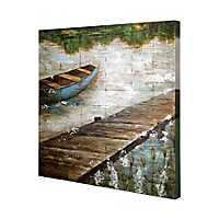 Wooden Slat Panel Coastal Art Print