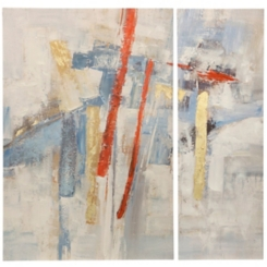 Contemporary Gold Canvas Art Prints, Set of 2