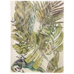 Tropical Palm Hand Embellished Canvas Art Print