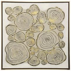 Golden Abstract Metallics Canvas Art Print