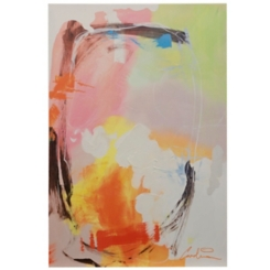 Abstract Motion Hand Embellished Canvas Art Print