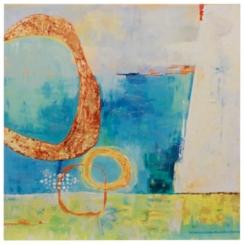 Abstract Intersect Embellished Canvas Art Print