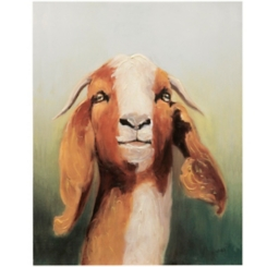 Billy Goat Hand Embellished Canvas Art Print