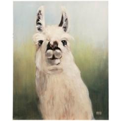 Alpaca Hand Embellished Canvas Art Print