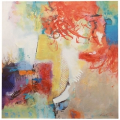 Abstract Color Splash III Canvas Art Print