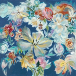 Floral Bouquet Hand Embellished Canvas Art Print