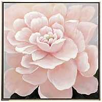 Pink Floral Hand Painted Framed Canvas Art Print