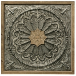 Colonial Medallion Galvanized Plaque