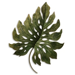 Metal Monstera Leaf Wall Sculpture