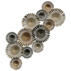 Metal Neutral Disc Wall Sculpture