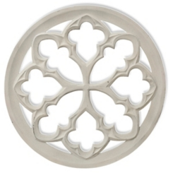 White Tuscan Medallion Wall Plaque