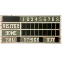 Vintage Ballpark Scoreboard Chalkboard Wall Plaque