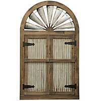 Rustic Barn Door Mirror, 31.5x52.25 in.
