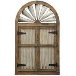Rustic Barn Door Mirror, 31.5x52.25 in.