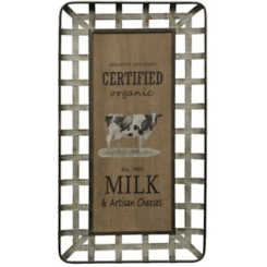Organic Milk and Artisan Cheeses Wall Plaque