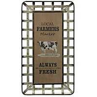 Local Farmers Market Always Fresh Wall Plaque