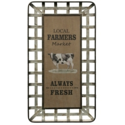 Local Farmers Market Always Fresh Wall Plaque