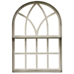 Wood and Metal Farmhouse Window Arch