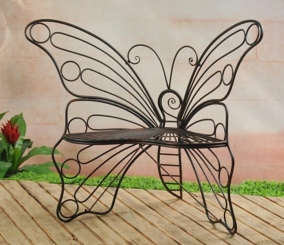 Bronze Black Metal Butterfly Chair