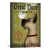 Great Dane Coffee Co. Canvas Art Print