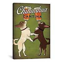 Chihuahua Cantina Canvas Art Print