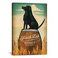 Black Lab Whiskey Canvas Art Print