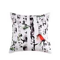 Sara B. Bird in Birch Christmas Pillow