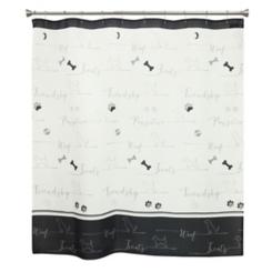 Underline Dogs Shower Curtain
