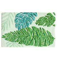 Green Kauai Leaf Bath Mat