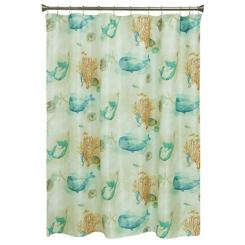 Blue Sea Splash Shower Curtain