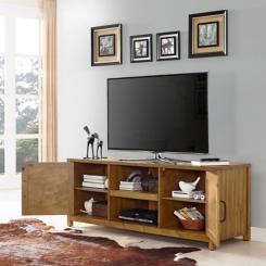 Rylan Natural Wood TV Media Cabinet
