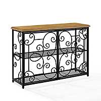 Rylan Black Scroll Accent Console Table