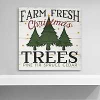 Farm Fresh Christmas Trees Canvas Art Print