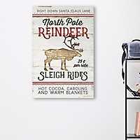 North Pole Reindeer Canvas Art Print