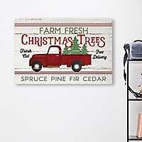 Farm Fresh Christmas Tree Truck Canvas Art Print