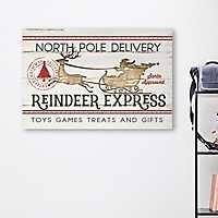 Reindeer Express Canvas Art Print