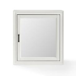 Tyler Vintage White Bath Cabinet Mirror