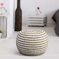 Chipper Braided Pouf