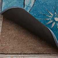 Aqua Coastal Splash Area Rug, 5x8