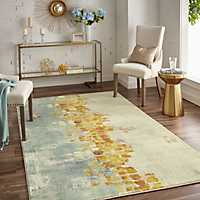 Neutral Dancing Stars Area Rug, 8x10