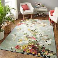 Multicolor Merging Floral Area Rug, 8x10