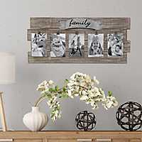 Family 5-Opening Wooden Collage Frame with Clips