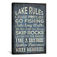 Lake Rules Canvas Art Print