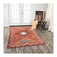 Rust Southwest Area Rug, 5x8