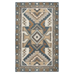 Brown and Blue Southwest Area Rug, 5x8