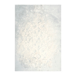 Clara Gray and Ivory Power Loomed Area Rug, 8x10
